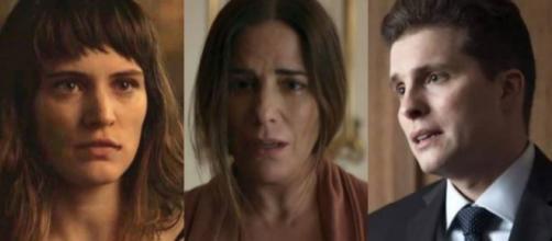 Beth, Clara e Patrick em 'O Outro Lado do Paraíso'. (foto reprodução).