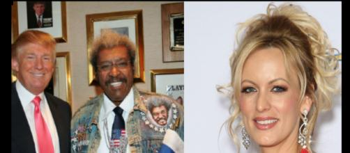 Donald Trump and Don King, Stormy Daniels, via Twitter