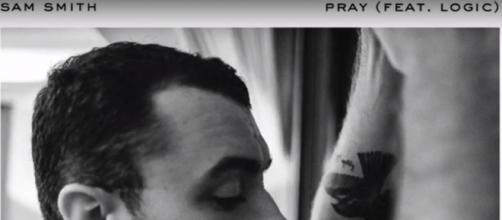Sam Smith re-release 'Pray' ft. Logic [image source: People/YouTube screenshot]