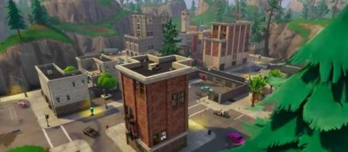 Torres inclinadas en Fortnite Battle Royale.