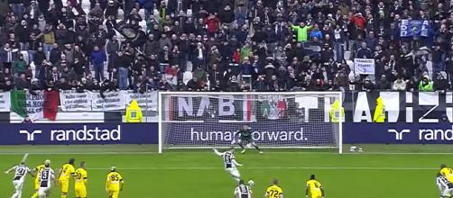 Un momento di uno degli ultimi impegni della Juventus all'Allianz stadium di Torino