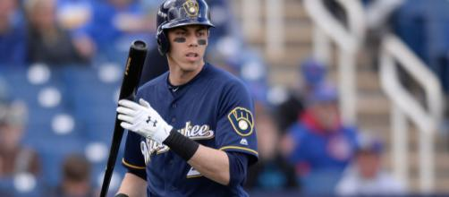 Yelich and the Brewers are off and running. [Image via MLB.com/YouTube]