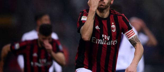 Leonardo Bonucci dopo il suo gol alla Juventus