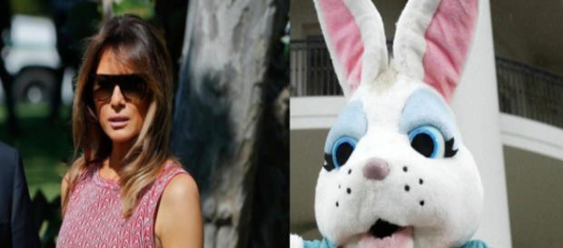 Melania Trump, Easter Bunny, via Twitter