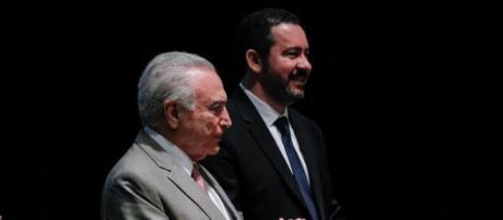 Temer participa da posse do novo presidente do BNDES, Dyogo Oliveira - Foto: Tânia Rêgo / Agência Brasil