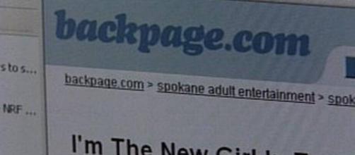A fines de la semana pasada se publicó un aviso en las diversas portadas internacionales de Backpage
