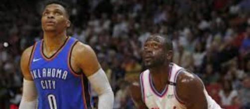 Deux légendes de la NBA côte à côte