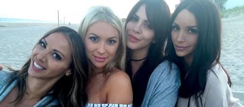 Kristen Doute, Stassi Schroeder, Katie Maloney, and Scheana Marie on the beach. [Photo via Instagram, public]