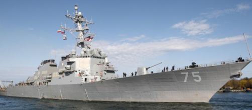 La USS Donald Cook, secondo i media turchi la nava statunitense sta facendo rotta verso la Siria