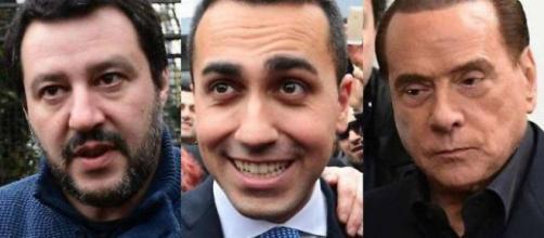 Matteo Salvini, Luigi Di Maio e Silvio Berlusconi