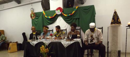 Mesa com assessores dos diversos temas abordados no evento.