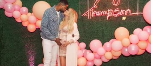 Tristan Thompson is reportedly seen cheating on pregnant Khloe Kardashian. [image source: <ODE>/YouTube screenshot]