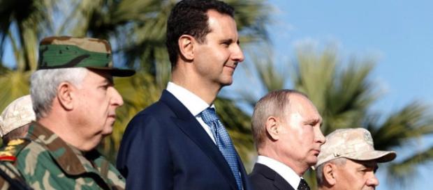 Bashar al-Assad e Vladimir Putin: non ci saranno risposte militari al raid USA