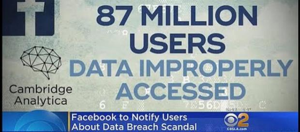 Facebook will notify 87 million users about their private data [Image: CBS Los Angeles/YouTube screenshot]