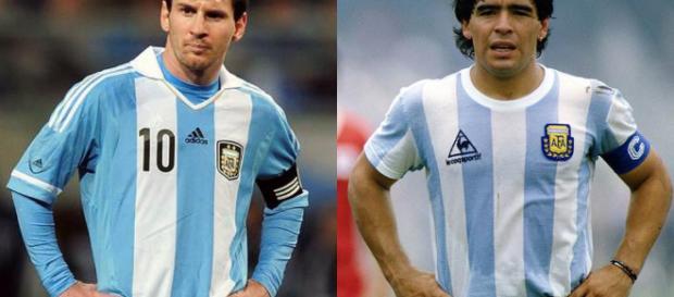 Maradona y Messi, esos seductores de la pelota   MundoD, El mejor ... - com.ar