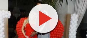 Khloe Kardashian and Tristan Thompson pose on Valentine's Day. [Photo via Instagram]