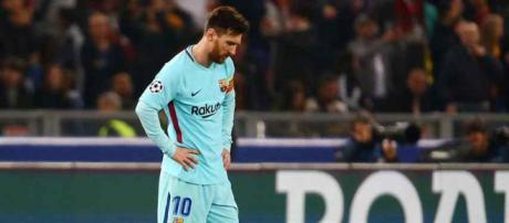 Leo Messi era a imagem do desalento no final do encontro