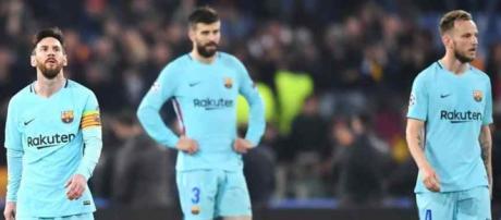 Leo Messi era o rosto do desalento no final da partida.