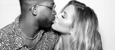 Tristan Thompson and Khloe Kardashian attend party. [Photo via Instagram]