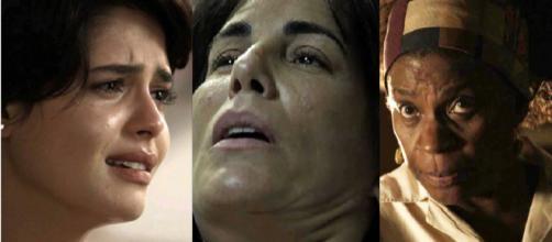 Adriana, Beth e Mãe do Quilombo em 'O Outro Lado'