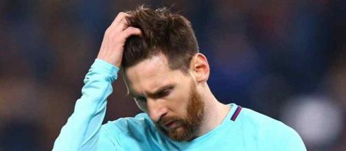 Leo Messi estava desesperado no final do jogo