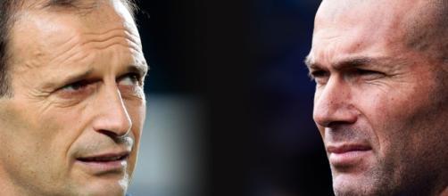 Massimiliano Allegri e Zinedine Zidane.