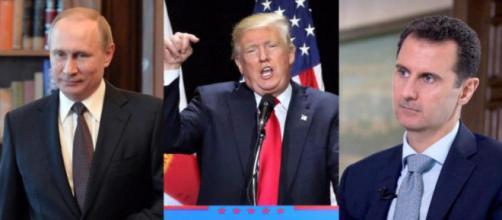 Vladimir Putin, Donald Trump e Bashar al-Assad: il mondo col fiato sospeso