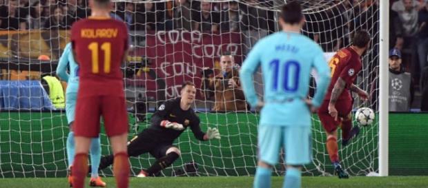 De Rossi marcou de pênalti o segundo gol da Roma