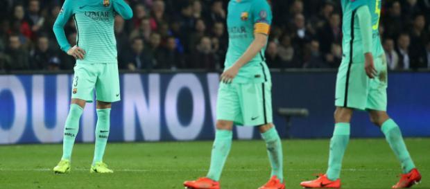 El Barcelona no puede creer su derrota.