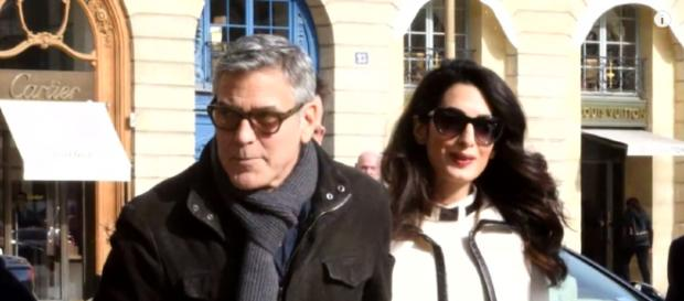 George and Amal Clooney are devoted to their family. [image source: Inside Edition - YouTube]