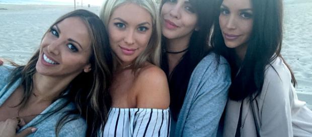 Kristen Doute, Stassi Schroeder, Katie Maloney, and Scheana Marie on the beach. [Photo via Instagram]
