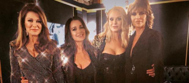 'The Real Housewives of Beverly Hills' stars on 'WWHL.' (Image: Instagram/Kyle Richards)
