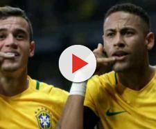 Neymar e Coutinho são amigos há muitos anos. (foto reprodução).