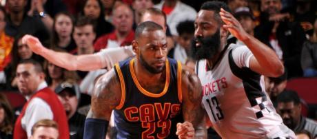 LeBron James or James Harden for MVP? The debate goes on. [Image source: NBA.com/YouTube]
