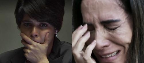 Adriana pede o perdão de Beth em O Outro Lado do Paraíso (Foto: TV Globo)