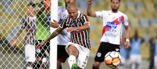 Fluminense teve dificuldades, mas abre boa vantagem sobre o Nacional Potosi na Sul-Americana (Foto: Felipe Siqueira/Globoesporte)