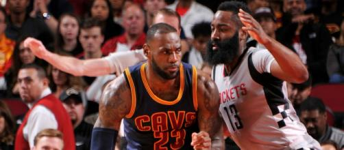LeBron James or James Harden for MVP? The debate goes on. [Image source: NBA.com/YouTube]