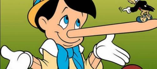O Personagem Pinóquio; seu nariz crescia cada vez que ele mentia. Foto: Reprodução.