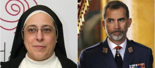 Sor Lucía Caram y Felipe VI en imagen