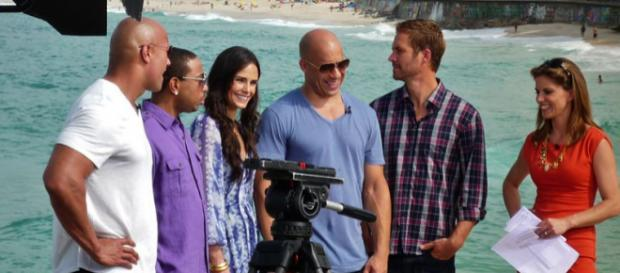 Dwayne Johnson with others in Rio de Janeiro, Brazil (Image Credit: Jack Zalium, Wikimedia Commons)