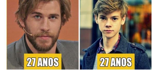 Eles têm a mesma idade, apesar de serem bem diferentes