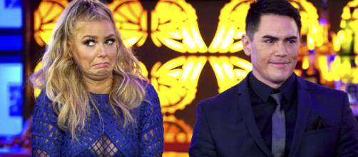 Ariana Madix and Tom Sandoval appear on a 'Pump Rules' reunion. [Photo via Bravo tv/Youtube screncap]