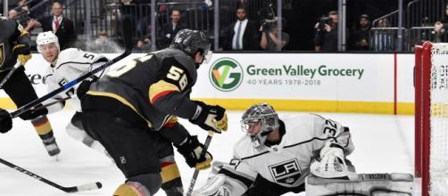 Haula pudo definir el largo partido 2 en el T Mobile Arena en las Vegas. NHL.com.