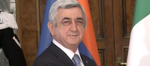 il presidente della Repubblica d'Armenia, Serzh Sargsyan