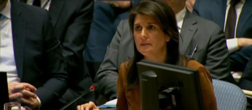 Nikki Haley addresses the UN on Syrian atrocities [Image via Fox News / YouTube Screencap]