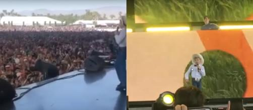 The Yodeling Boy at Coachella. [image source: MITCHELL WIGGS/YouTube screenshot]