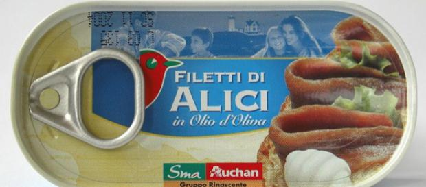 Canned fillets of Anchovies (Image credit – AlMare, Wikimedia Commons)