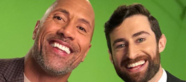 Dwayne 'The Rock' Johnson guest hosts on 'HQ.' [Credit: Twitter/ScottRogowsky]