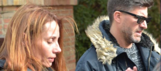 Lorena y Toño Sanchís, juntos por la calle.