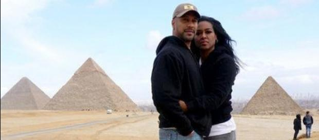 Marc Daly and Kenya Moore in Egypt. - [Photo via Instagram]